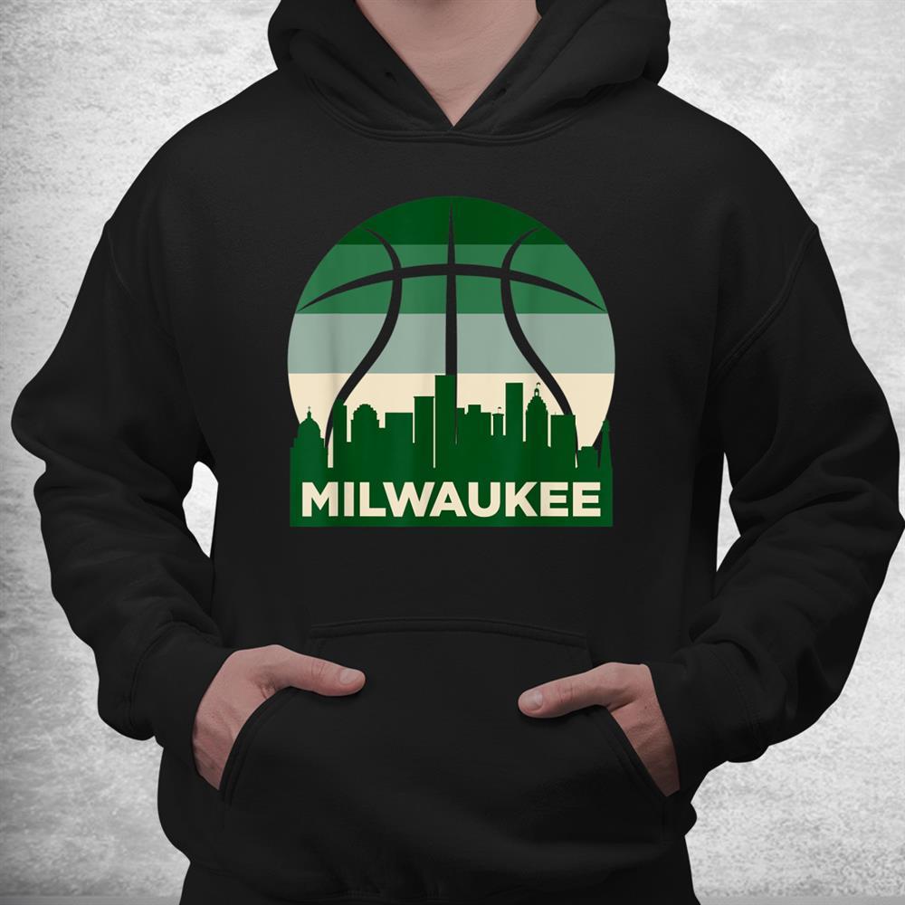 Milwaukee Basketball B Ball City Wisconsin Retro Vintage Shirt