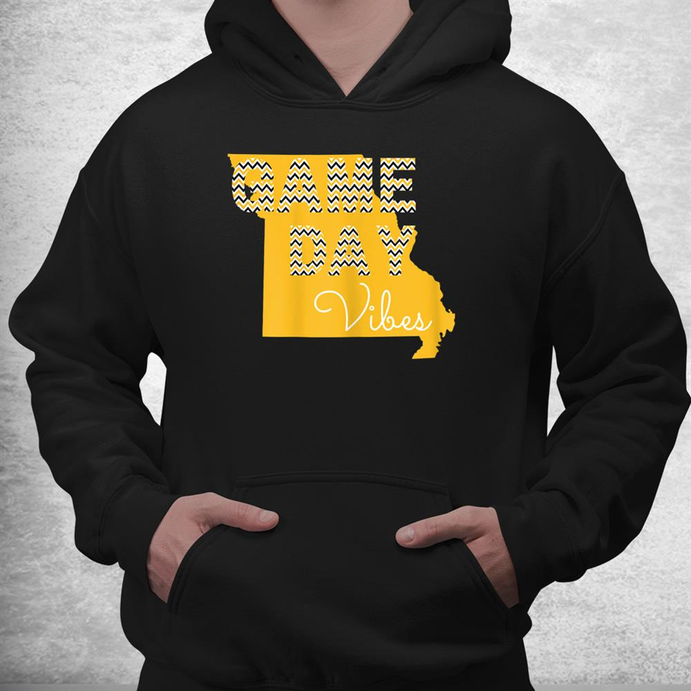 Missouri Football Game Day Vibes Fall Tailgate Tigers Shirt