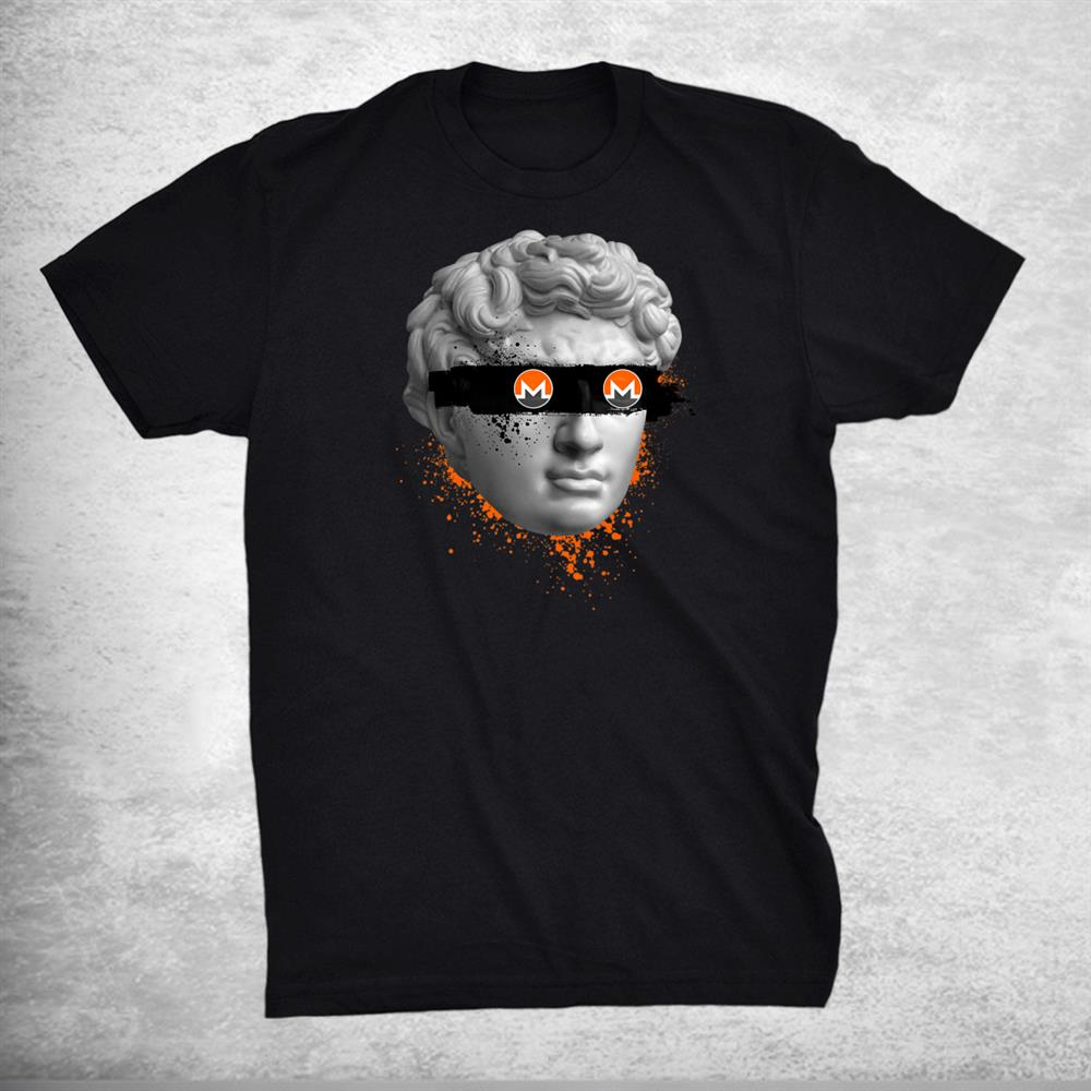 Monero Xmr Blind Statue Crypto Modern Art Cryptocurrency Shirt
