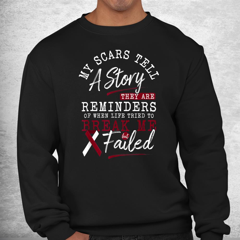 My Scars Tell A Story Throat Head And Neck Cancer Awareness Shirt