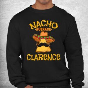 nacho average clarence personalized name funny taco shirt 2