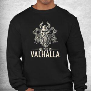 nordic mythology see you in valhalla viking shirt 2