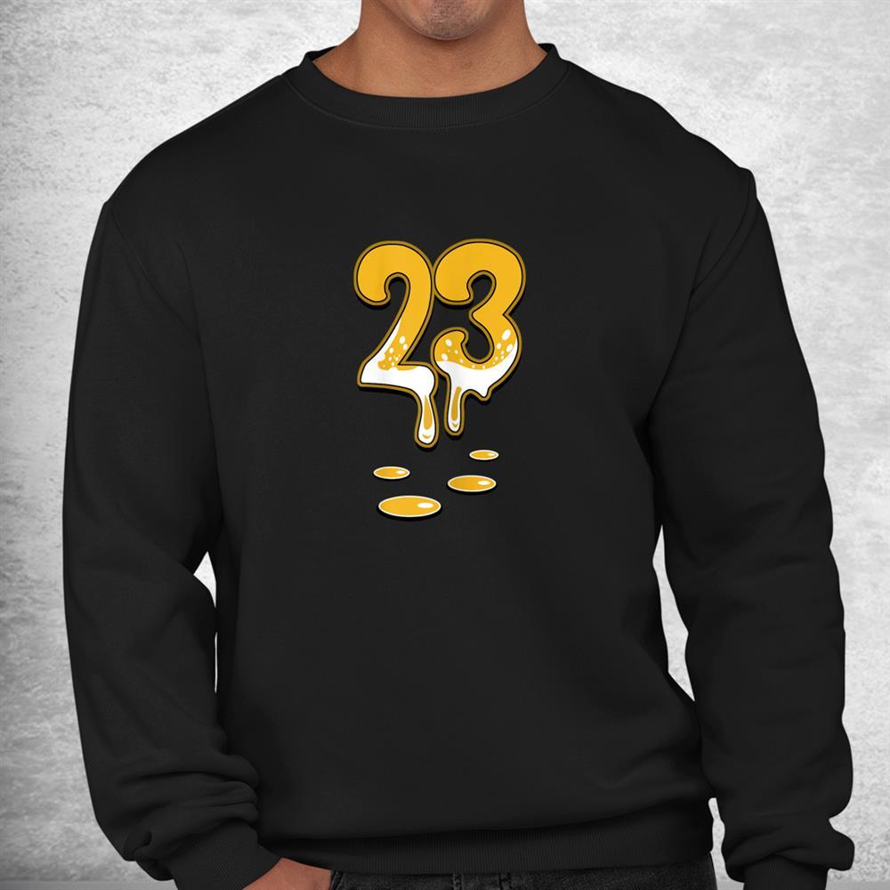 Number 23 Drip Sneaker Match 1 High Og Pollen Halloween Shirt