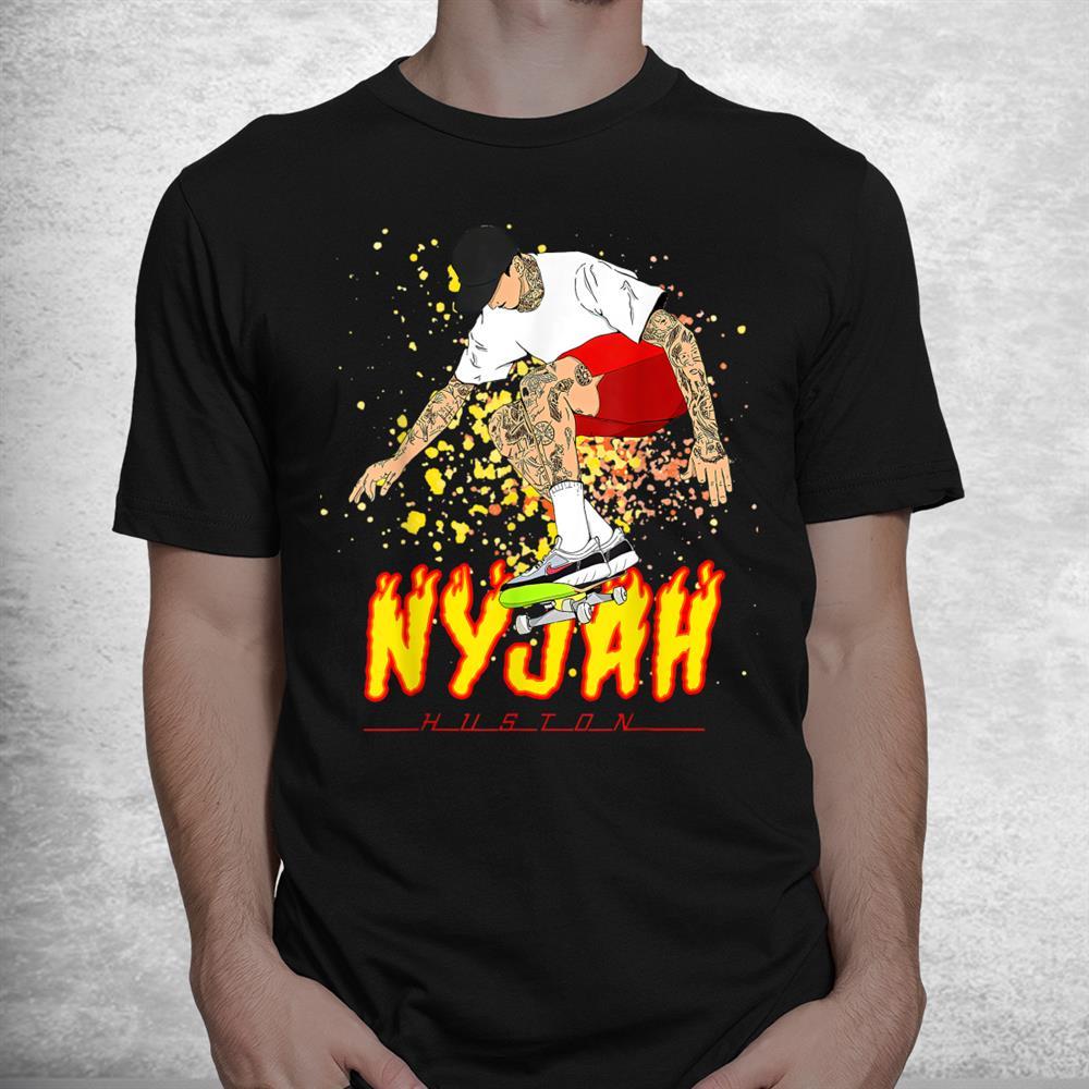 Nyjah Huston Skateboarder Skateboard Retro Shirt
