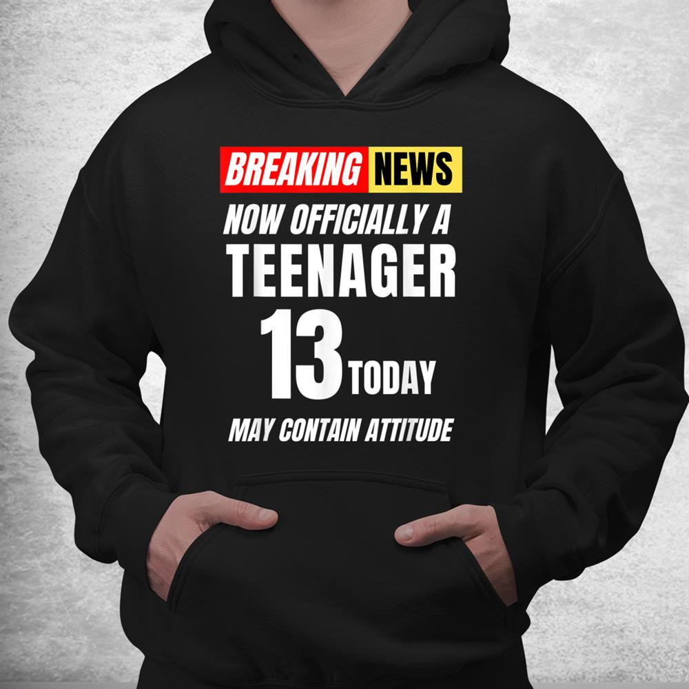 Officially Teenager 13 Today Funny Boy Girl 13th Birthday Shirt