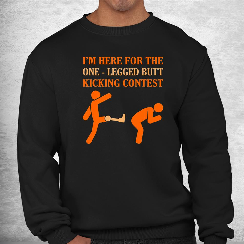One Legged Contest Funny Amputee Prosthetic Surgery Shirt