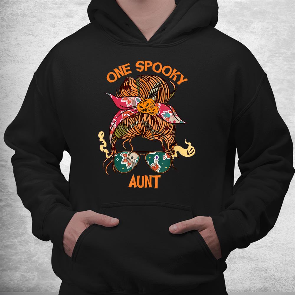 One Spooky Aunt Bandana Women Halloween Shirt