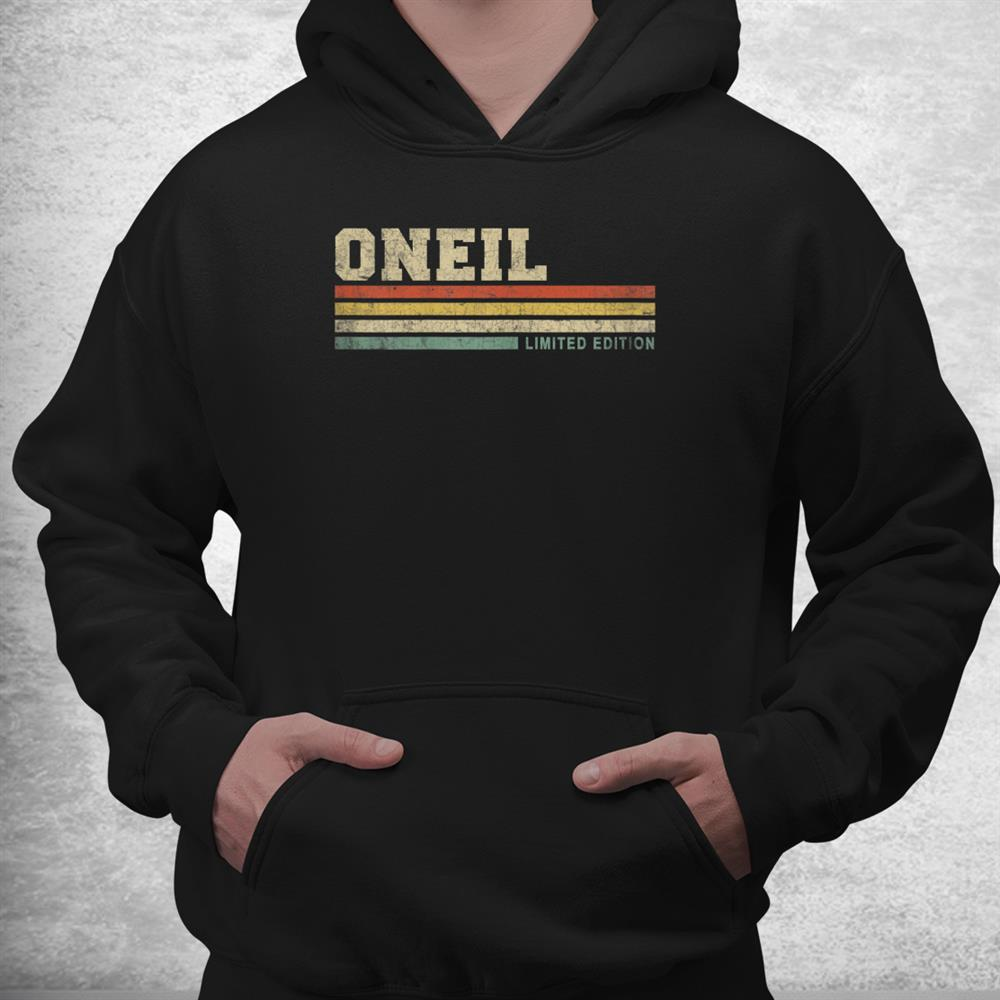 Oneil Surnam Personalized Funny Retro Vintage Family Shirt