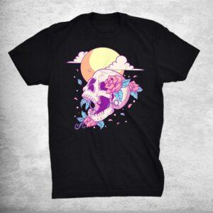 Pastel Goth Sugar Skull And Moon Kawaii Shirt