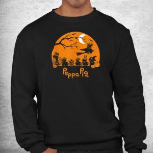 peppa pig halloween trick or treat nighttime silhouette shirt 2