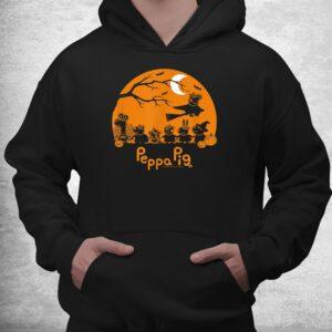 peppa pig halloween trick or treat nighttime silhouette shirt 3