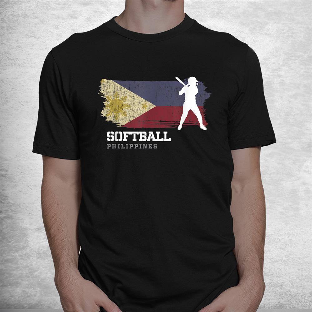 Philippines Softball Team Girls Baseball Womens Softball Shirt