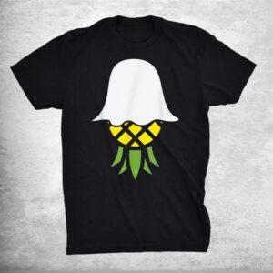 Pineapple Ghost Lazy Diy Halloween Costume Funny Hawaiian Shirt