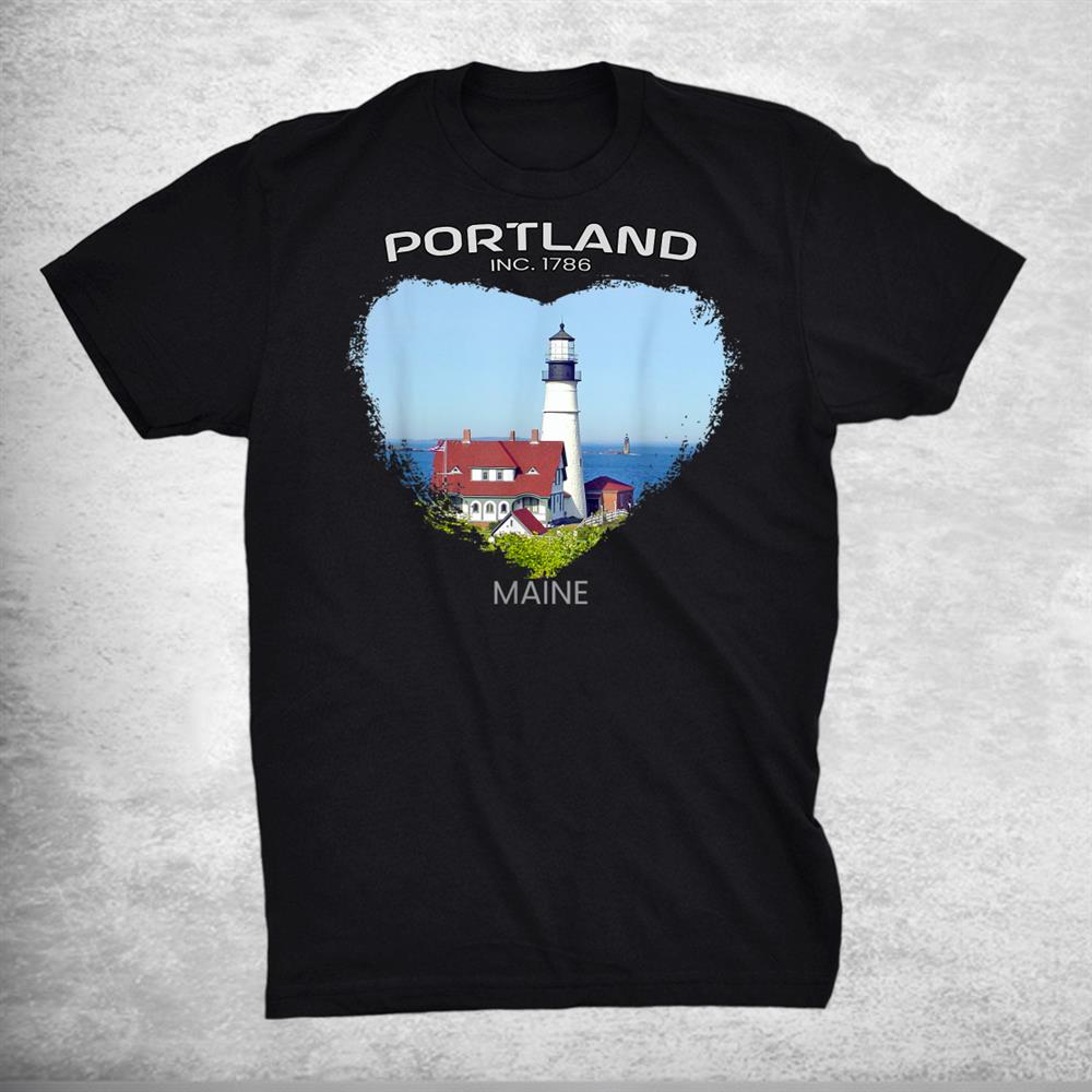 Portland Me Maine Portland Head Light Fort Williams Park Shirt