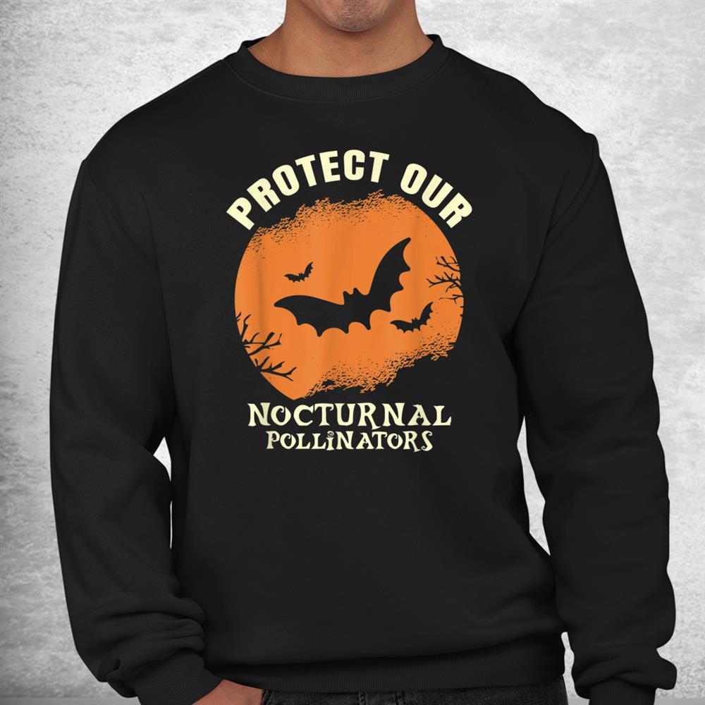 Protect Our Nocturnal Pollinators Halloween Bat Shirt