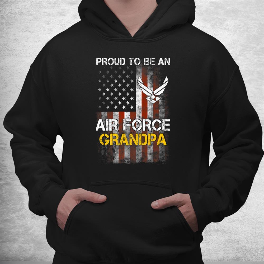 Proud Air Force Grandpa Funny American Flag Shirt