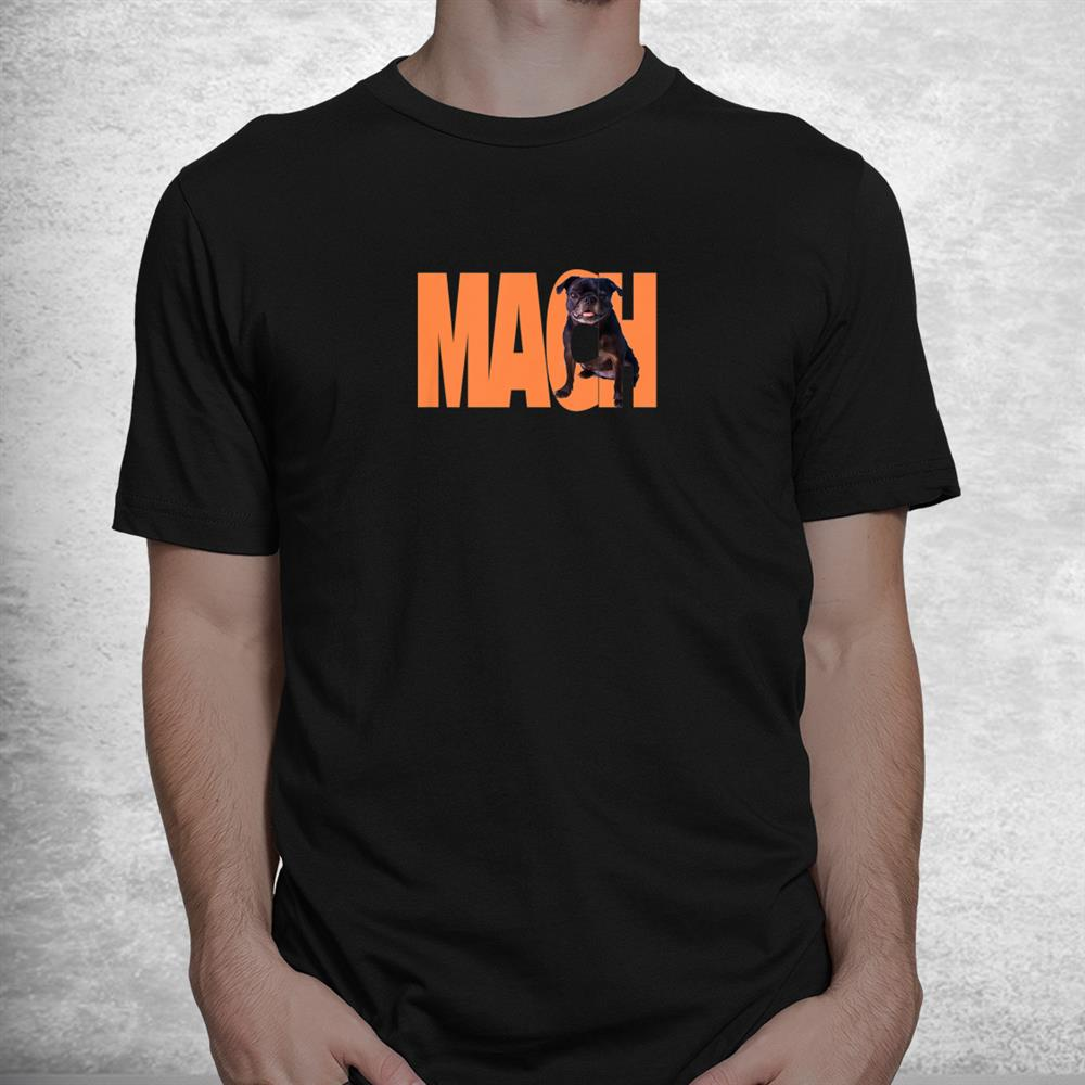 Pug In The Letters Mach Shirt