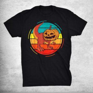 Pumpkin Dinosaur Pumpkasaurus T Rex Halloween Shirt