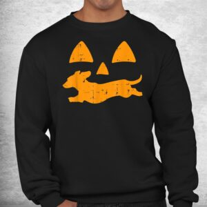 pumpkin eyes dachshund funny halloween jack o lantern dog shirt 2