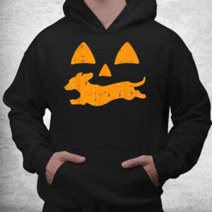pumpkin eyes dachshund funny halloween jack o lantern dog shirt 3