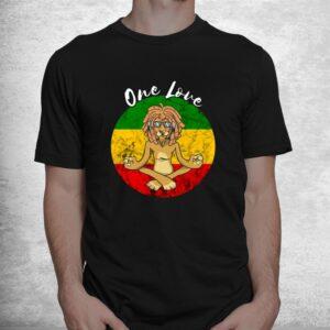 rasta reggae one love meditation lion rastafarian lover shirt 1