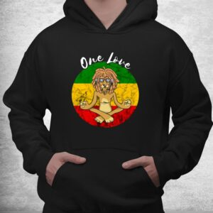 rasta reggae one love meditation lion rastafarian lover shirt 3