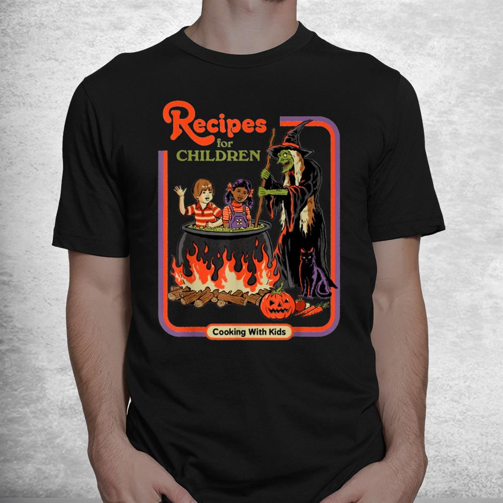 Recipes For Children Cooking With Kids Witch Shirt