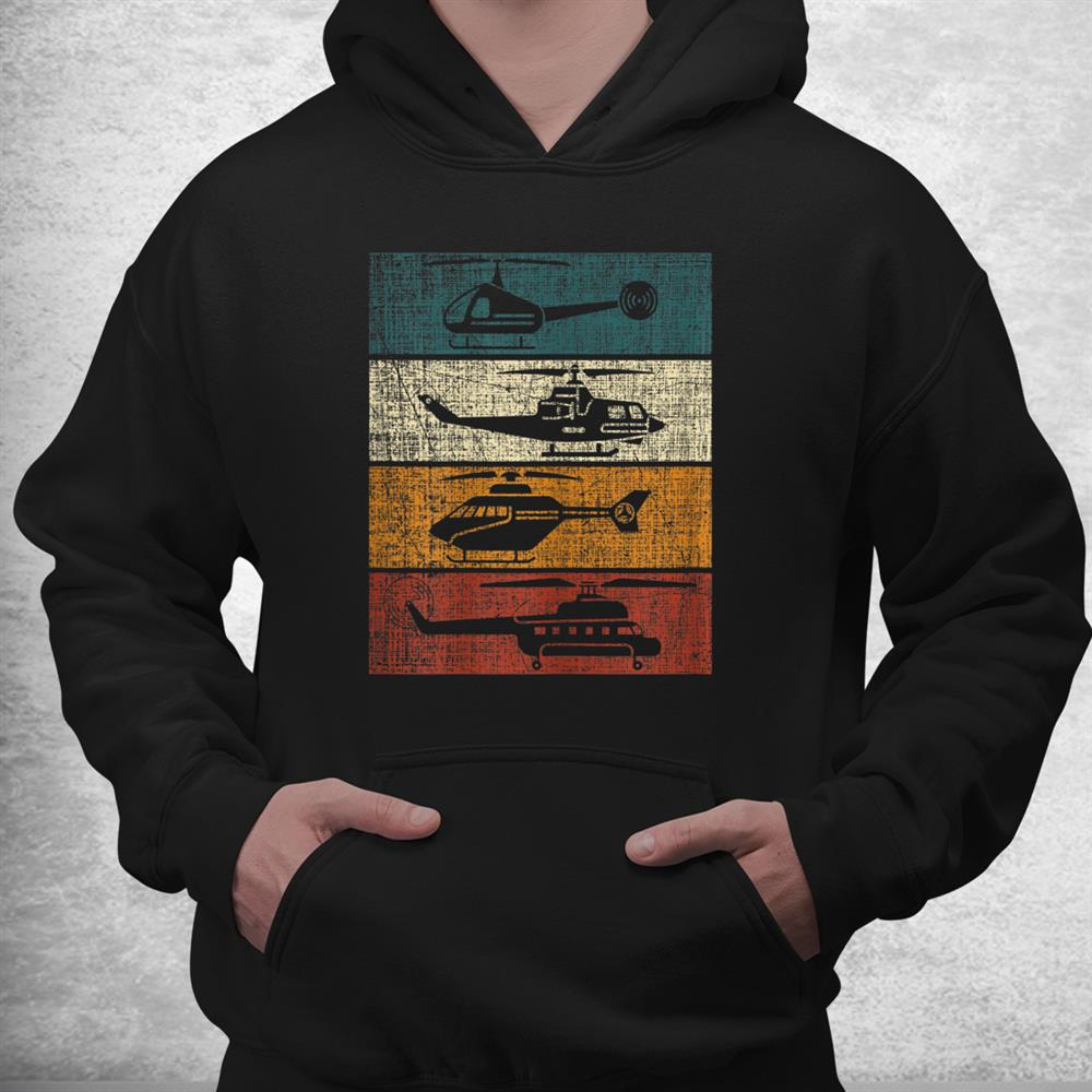 Retro Helicopter Pilot Vintage Aviation Shirt