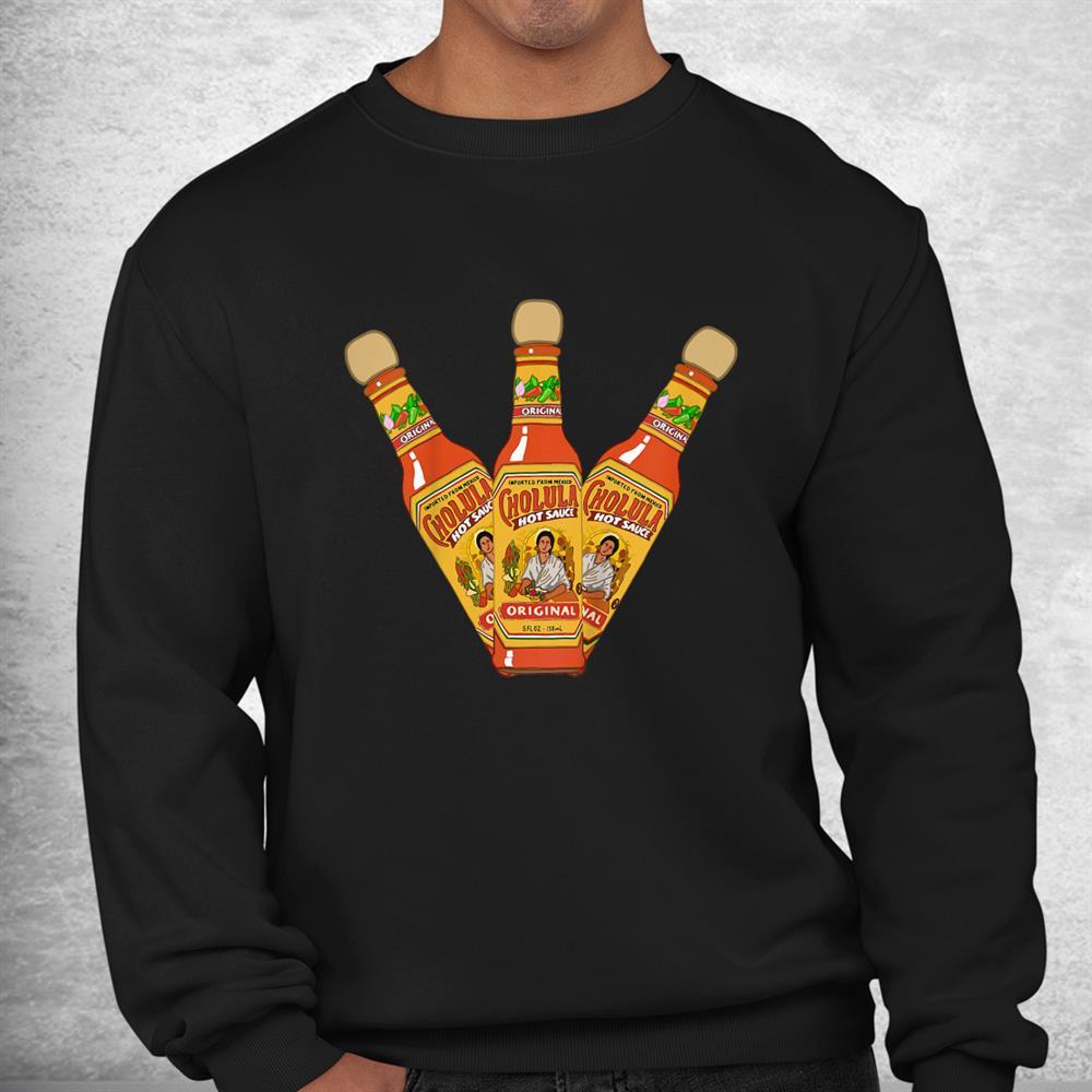Retro Hot Sauces Design Art Cholula Originals Vintage Styles Shirt