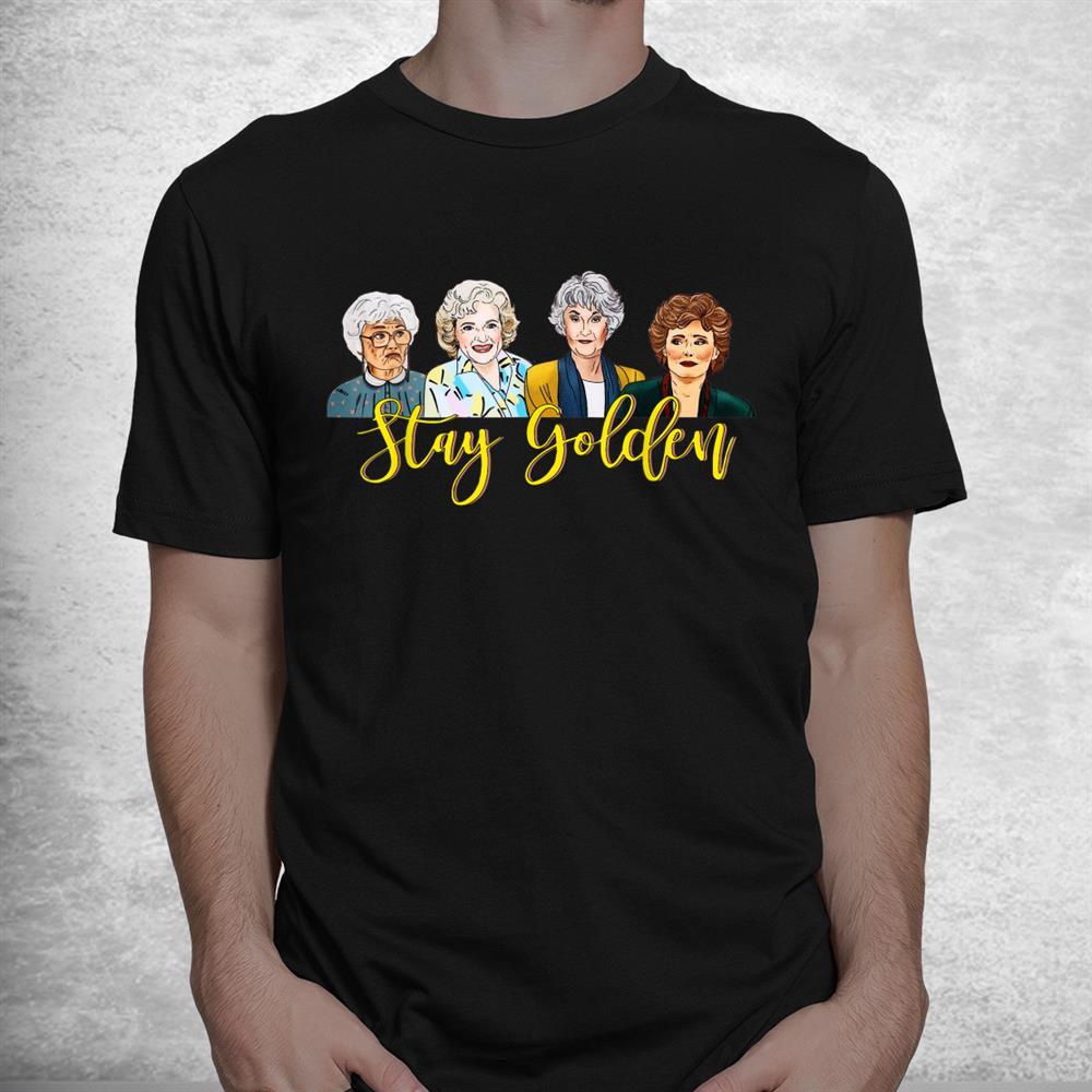 Retro Stay Golden Beautiful Design Friends Vaporware Costume Shirt