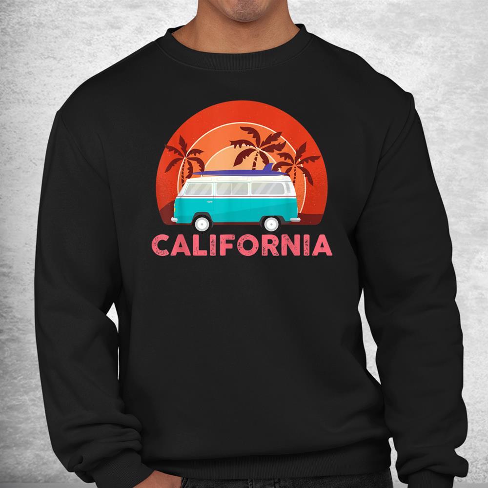 Retro Vintage Beach Surfing Surfer Van Shirt