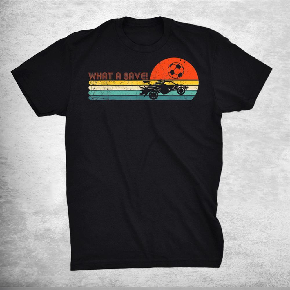 Rocket Rc Soccer Car League Funny Gamer Retro Style Shirt