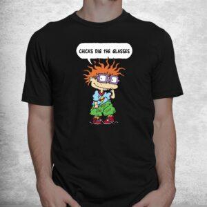 rugrats chuckie chicks dig the glasses shirt 1