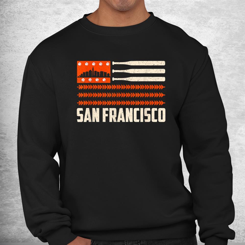 San Francisco Baseball Flag Patriotic Vintage Shirt