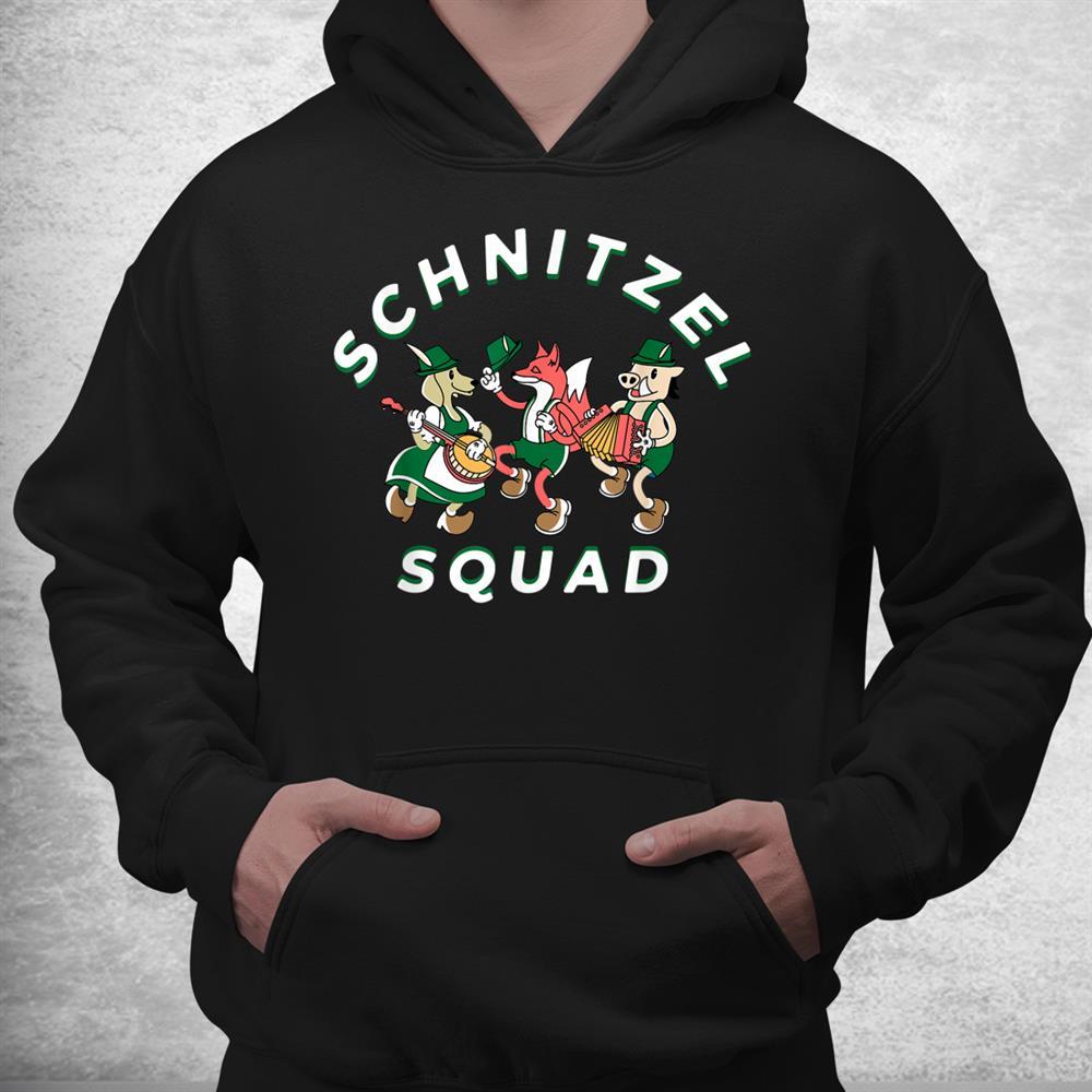 Schnitzel Squad Oktoberfest German Theme Party Brass Band Shirt