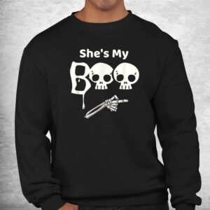 shes my boo halloween matching couples shirt 2