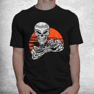 skeleton gamer halloween costume playing video games gaming shirt 1