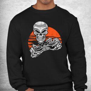 skeleton gamer halloween costume playing video games gaming shirt 2