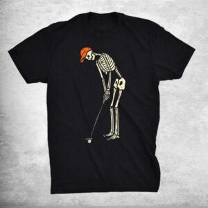 Skeleton Golf Funny Halloween Golfing Sports Golfer Shirt