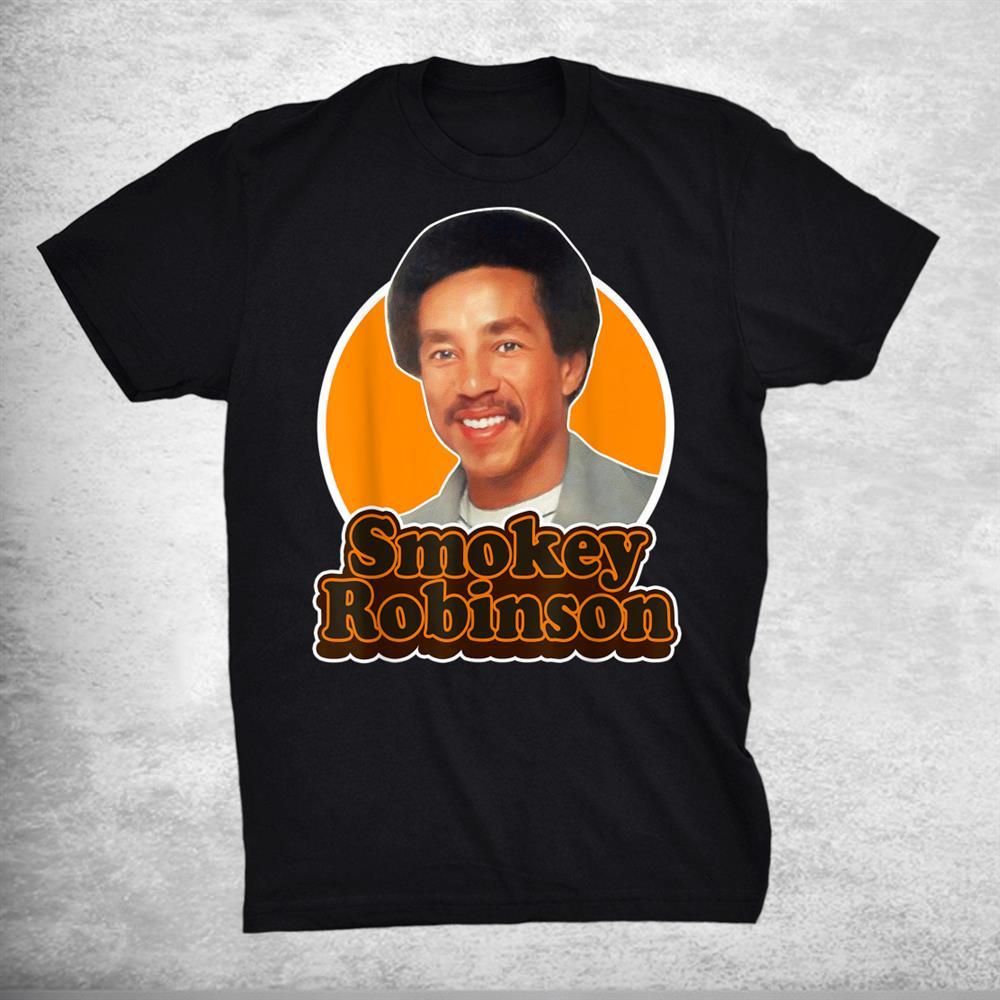 Smokey Distressed Arts Robinson Quotes Music Costume Shirt