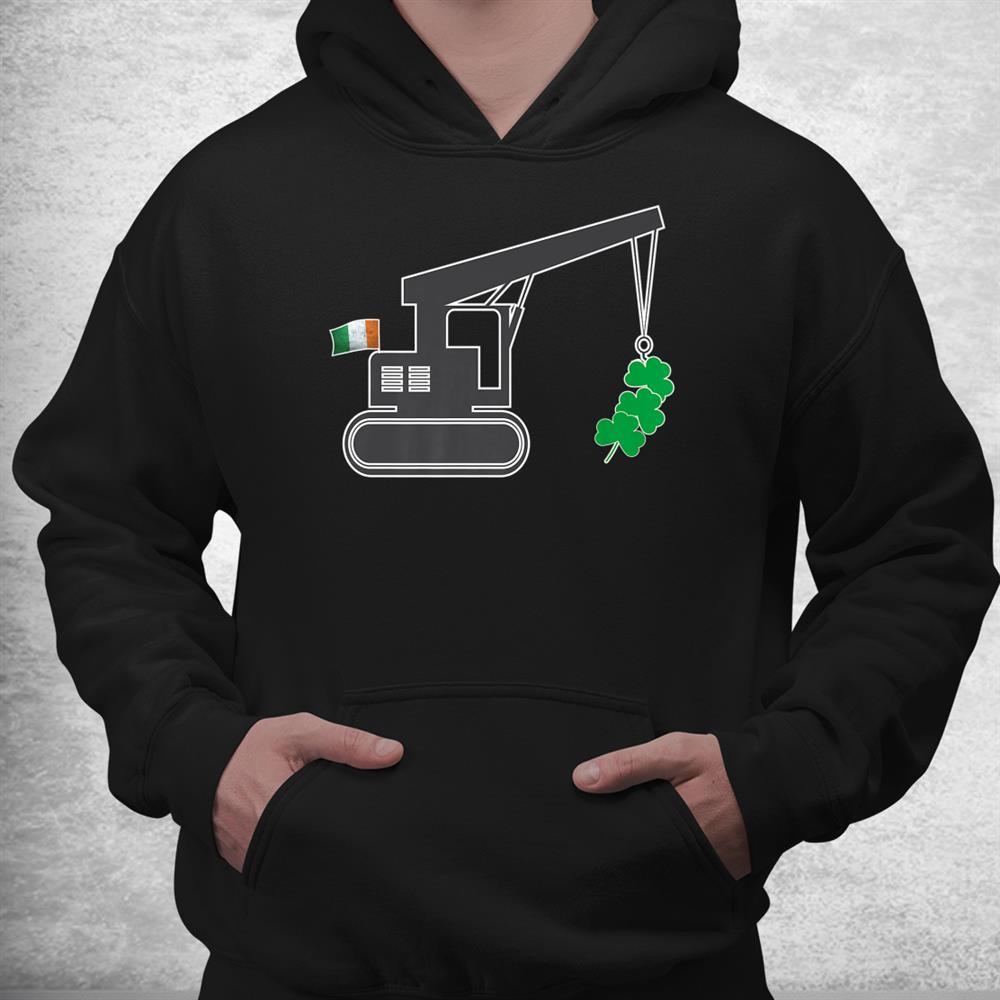 St Patricks Day Funny Irish American Flag Shamrocks Shirt