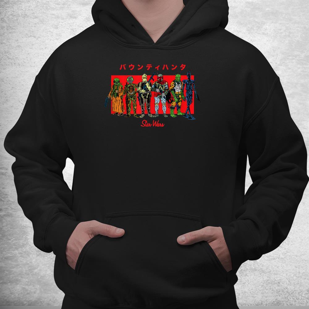 Star Wars Kanji Bounty Hunter Line Up Shirt