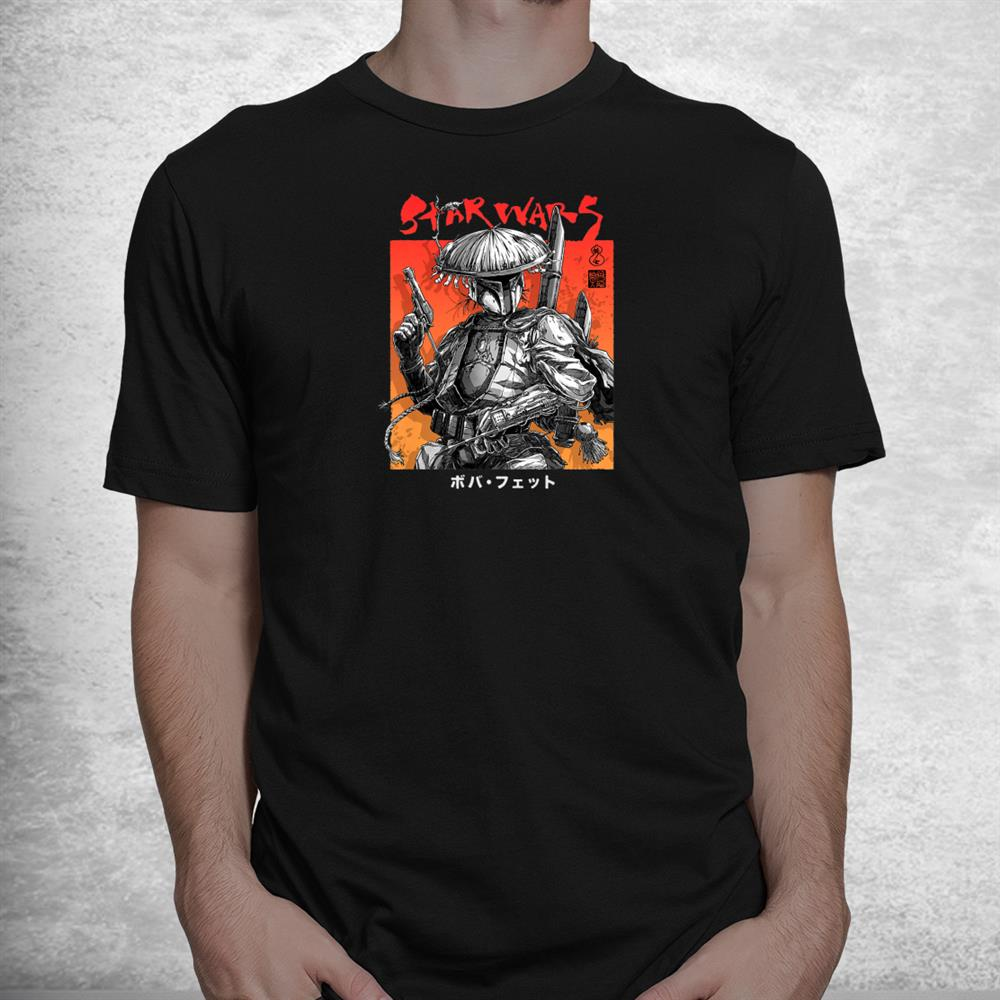 Star Wars Visions Boba Fett Samurai Poster Shirt