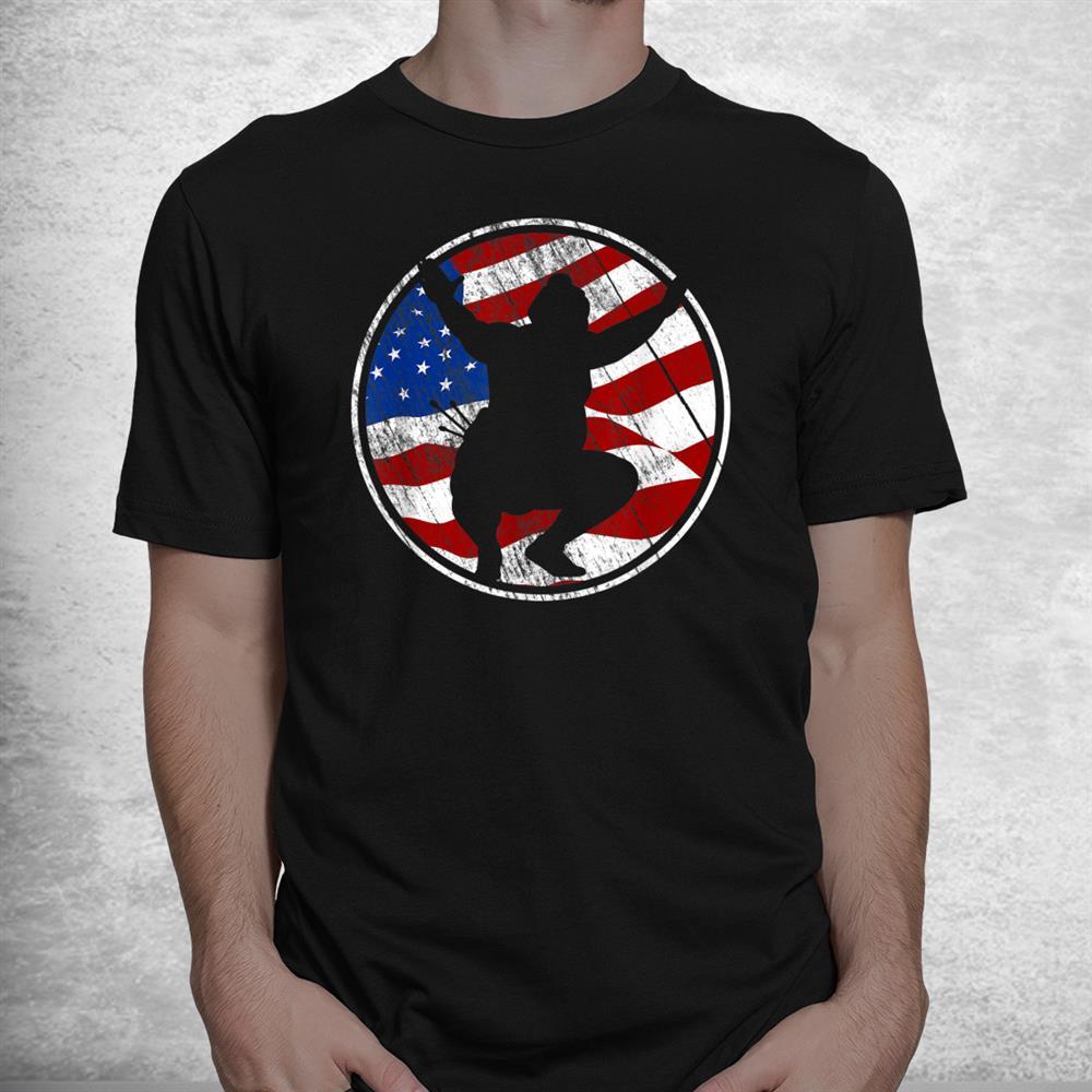 Sumo Wrestling American Flag Vintage Sumo Wrestling Shirt