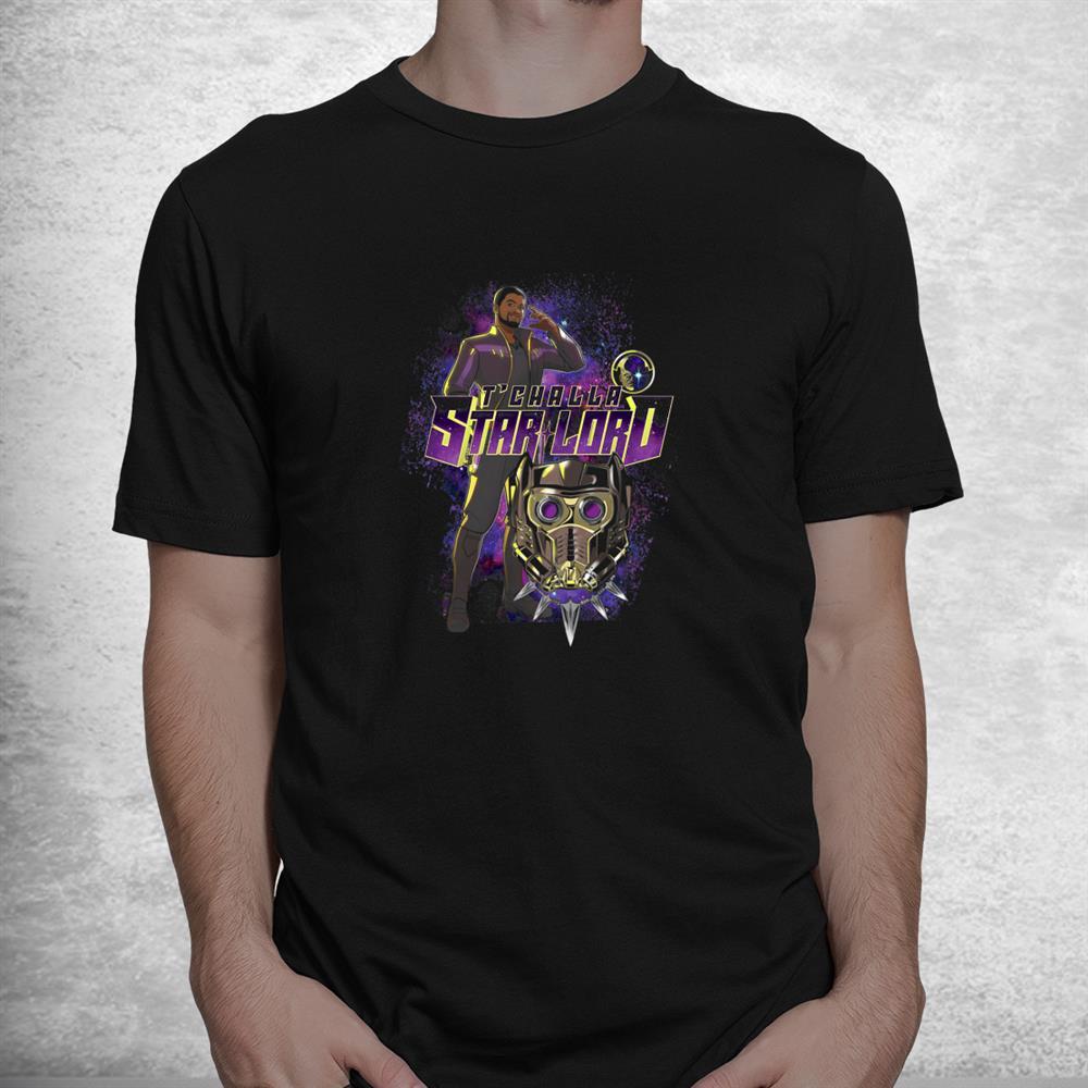 Tchalla Star Lord What If Hero Shot Shirt
