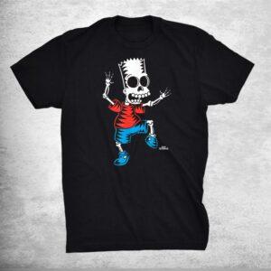 The Simpsons Bart Skeleton Treehouse Of Horror Halloween Shirt