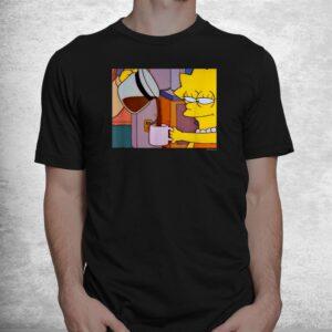 the simpsons lisa coffee smile v1 shirt 1