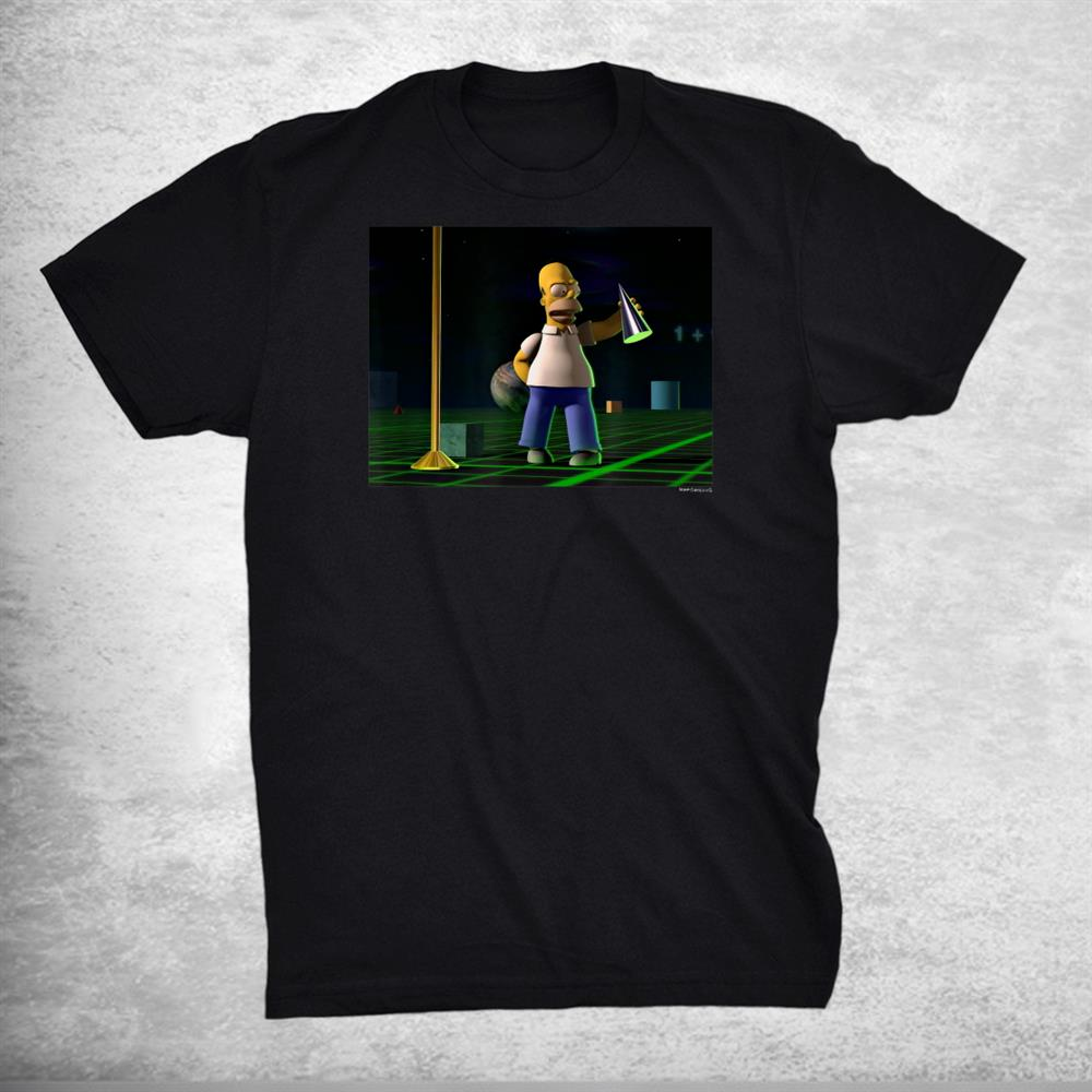 The Simpsons Treehouse Of Horror 3d Graphic Homer V 2 Shirt