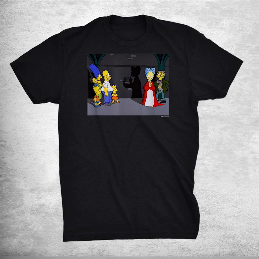 The Simpsons Treehouse Of Horror Dracula Shadow Mr Burns V2 Shirt