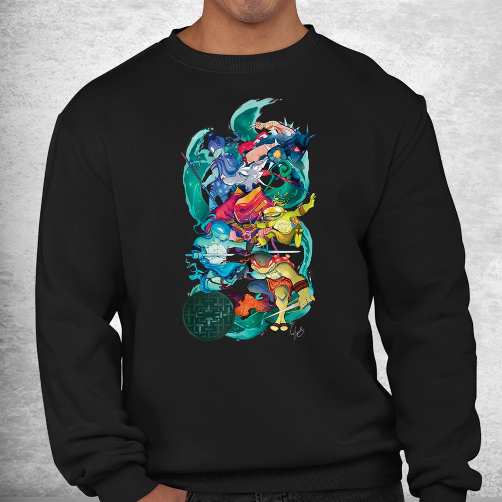 Tmnt X Lily Stock Collection Group Shot Shirt